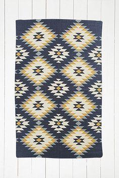 Tapis Austin à motifs losanges 4x6 bleu marine