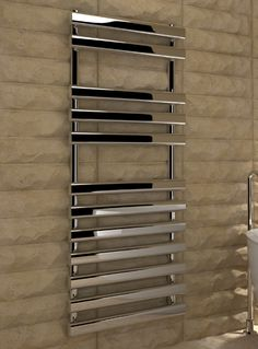 Kudox Designer Towel Rail Vectis x Chrome Towel Warmer, Towel Rail, Heating Systems, New Homes, Chrome, Shower, Bathroom, Stuff To Buy, Radiators