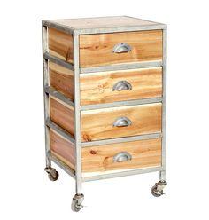 """Hübsch interior Schreibtischcontainer """"Aiko"""" ist ein rustikal-stylisches Wohnaccessoire im angesagten Industrie-Look. Sein Gestell ist aus Metall gefertigt und sorgt zusammen mit den vier Schubladen sowohl im Wohnbereich, als auch im..."""