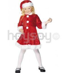 Disfraz de mamá #Noel encantadora para niña. Este #disfraz contiene vestido y gorro #Disfraces #Navidad