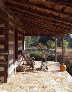 Picture gallery featuring a beautiful cabin in Fredericksburg, Texas. Dog Trot House, Tiny House Cabin, Cabin Homes, Log Homes, Cabins In The Woods, House In The Woods, Porches, Outdoor Spaces, Outdoor Living