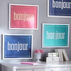 Paris Bonjour Gallery Frame