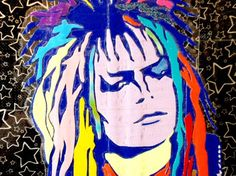 Duck Tape Art Painting Duct Tape Painting Art Jareth the Goblin King David Bowie