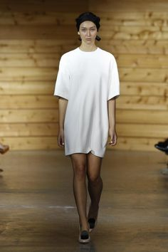 A simple oversized white shirt used as a dress... why not?? Ellery S/S 2012/13 Collection