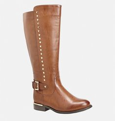 Find luxe new boots for fall like the wide width Phoebe Side Stud Tall Boot! Faux Fur Boots, Tall Boots, Stretch Knee High Boots, Cognac Boots, Spring Boots, Fall Fashion 2016, Wide Width Shoes, Studded Boots, All About Shoes