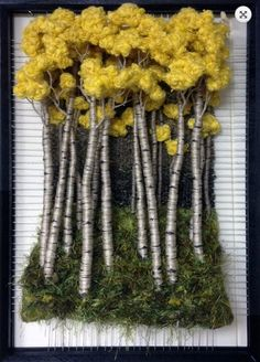 Ideas For Hand Quilting Fiber Art Art Fibres Textiles, Textile Fiber Art, Weaving Textiles, Weaving Art, Tapestry Weaving, Loom Weaving, Art Fil, Moss Art, Weaving Projects
