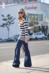 Wide leg, sequins, & stripes