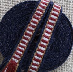Inkle Weaving, Medieval Trim, Inkle Woven, Hand Woven Trim, Wool and Silk Trim, Narrow Trim, Woven Ribbon, Inkle Band