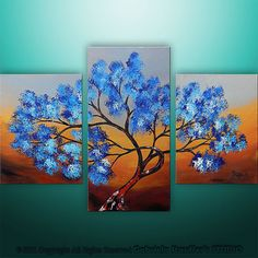 Abstract Modern Landscape Asian Tree Art by Gabriela by Catalin, $159.00