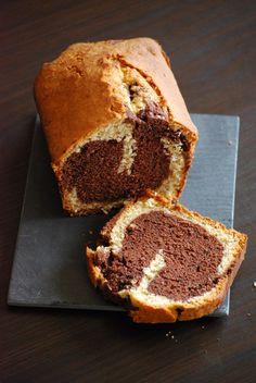 Gâteau marbré au chocolat