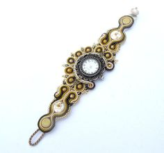 Antique Soutache Bracelet Wintage with Watch di IncrediblesTN