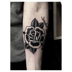 Another rose @intoyoutattoolondon #blackrosetatts