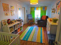 Colorful baby nursery.