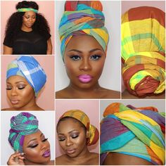Surinaamse pangi's (omslagdoek) kunnen goed gebruikt worden als hoofddoeken. De fleurige kleuren stralen blijdschap en geluk uit.