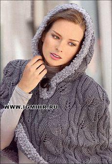 Knit Shrug, Knitted Cape, Poncho Shawl, Crochet Jacket, Crochet Poncho, Knitted Poncho, Knit Cardigan, Capelet, Crochet Motifs