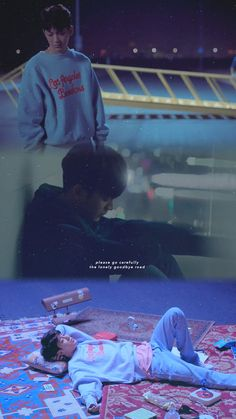 please go carefully, the lonely goodbye road. Ikon Wallpaper, Cute Wallpaper Backgrounds, Wallpaper Quotes, Cute Wallpapers, Kim Hanbin Ikon, Chanwoo Ikon, Yg Entertainment, Seoul, Bobby