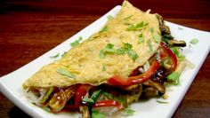 asian noodle omelette