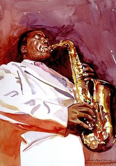 """Charles """"Charlie"""" Parker, Jr. (August 29, 1920 – March 12, 1955), also known as """"Yardbird"""" and """"Bird"""", was one of the most influential improvising soloists in jazz, and a central figure in the development of bop in the 1940s. A legendary figure in his own lifetime, he was a Grammy Award–winning jazz saxophonist who with Dizzy Gillespie invented the musical style called bop or bebop. He was portrayed in the 1988 film Bird by Forest Whitaker. (Art by David Lloyd Glover.)"""