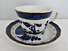Royal Doulton Real Old Willow Porcelain Cup & Saucer Blue Willow
