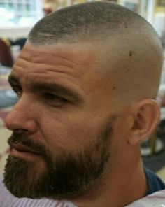 Shaved Head With Beard, Bald With Beard, Beard Fade, Sexy Beard, Mens Hairstyles With Beard, Hair And Beard Styles, Hairstyles Haircuts, Haircuts For Men, Short Hair Mohawk