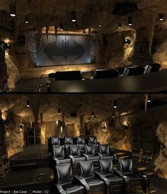 Batcave movie theater...umm yessssss