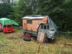 Rob Mason is turning a1959 French Troop Carrier into a summerhouse.