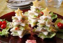 Посадочный фаршированные хлеб сэндвич, рождественские закуски