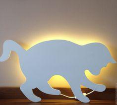 Купить Ночник детский светильник Кошка - белый, ночник в детскую, ночник для детской, светильник, освещение