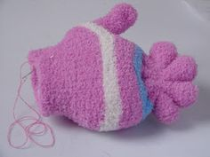 Diy Sock Toys, Sock Crafts, Fish Crafts, Sewing Crafts, Doll Sewing Patterns, Sewing Dolls, Sock Dolls, Felt Dolls, Recycled Toys