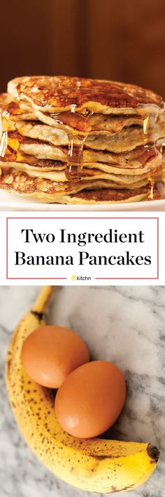 How To Make Banana Pancakes — Cooking Lessons from The Kitchn Banana Breakfast, Banana Pancakes, Breakfast Recipes, Breakfast Ideas, Breakfast Dishes, Paleo Breakfast, Pancake Muffins, Clean Breakfast, Breakfast Muffins