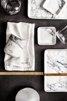 H&M Home | Marble porcelain
