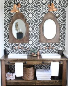 This gorgeousness stopped me in my tracks. https://mylifefromhome.com/2017/03/modern-farmhouse-bathroom-renovation-reveal/