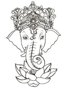 Ganesh with Lotus Tattoo by ~Metacharis on deviantART - need to research ganesh, I love the look !: