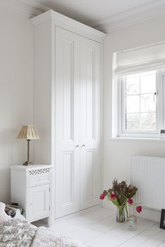 one of my nicest shots of our lovely victorian style spray finished in your choice of colour x Alcove Wardrobe, Bedroom Built In Wardrobe, Wardrobe Doors, Built In Furniture, Bedroom Furniture, Brighten Room, Tidy Room, Romantic Bedroom Decor, Victorian Bedroom