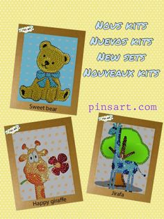 Our new  sets Pins art    june  2014 Art En 2d, Pin Art, New Set, Giraffe, Happy, Drawing Drawing, Felt Giraffe, Giraffes, Ser Feliz