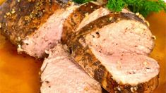 Balsamic Roasted Filet Mignon.   Just four ingredients will produce the tastiest pork loin you've ever had. It's a crowd pleaser! Pork Tenderloin Recipes, Pork Recipes, Cooking Recipes, Healthy Recipes, Family Recipes, Delicious Recipes, Hash Browns, Balsamic Pork Loins, Pizza