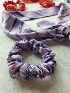 jarisse / Hodvábna šatka do vlasov+gumička- Womens Scarves, Scarfs, Ale, Hand Painted, Handmade, Fashion, Moda, Scarves, Ales