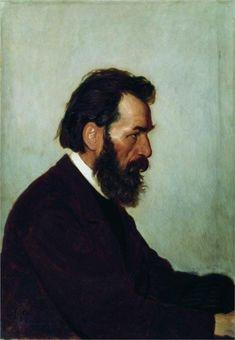 Portrait of A.I. Shevtsov, 1869  Ilya Repin (1844 – 1930, Ukrainian-born Russian artist).