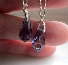 Sterling sapphire earrings 925 faceted by artsandadornments