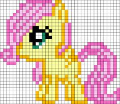 Filly Fluttershy My Little Pony Perler Bead Pattern / Bead Sprite Kandi Patterns, Pearler Bead Patterns, Perler Patterns, Beading Patterns, Quilt Patterns, Crochet Pony, Pixel Crochet, Bead Crochet, Little Poney