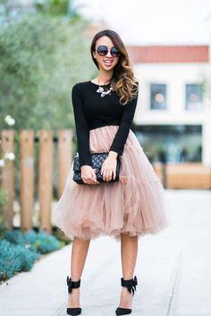 This tule skirt is beautiful!