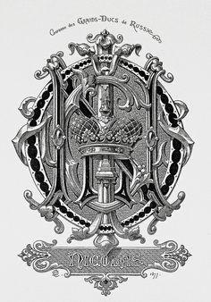 """Monogram """"Nicolas"""" by Charles Demengeot - 1877"""