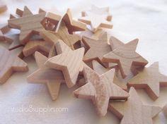 50 Wood Stars from studio8supplies, $5.95