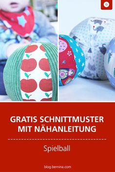 Anleitung und Schnittmuster: Baby-Ball Free sewing pattern with sewing instructions for a game ball Sewing Patterns Free, Free Sewing, Baby Patterns, Free Pattern, Knitting Patterns, Knitting Charts, Baby Knitting, Free Knitting, Diy Gifts For Christmas