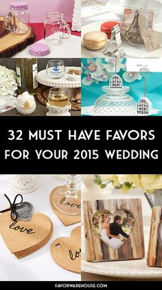 32 MUST Have favors for your 2015 wedding! #FavorWarehouse