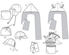 fleece scarf hat pattern