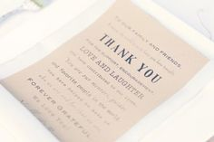 Thank Your Guests: Make guests feel welcome from the moment they arrive by writing them personal notes and leaving them at the ceremony entrance, recommends Lauren Geissler of San Francisco's Downey Street Events. Another plus: By giving cards, you can skip the receiving line, giving you more time for photos and the reception.  Related: Best Spa Locations to Host a Bridal Shower  Photo by We Heart Photography via Style Me Pretty