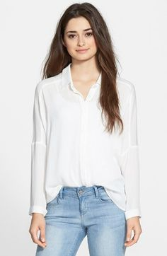 Lush Textured High/Low Shirt available at #Nordstrom