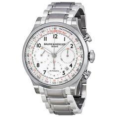 Baume & Mercier Mens BMMOA10061 Capeland Analog Display Swiss Automatic Silver Watch