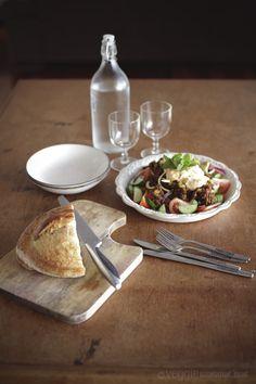 Lentil, Date & Tomato Salad with Chili Oil Tahini Dressing